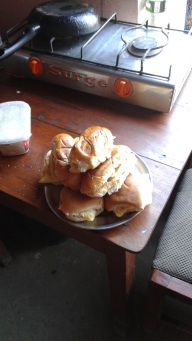 fresh egg sandwhiches made with bread from the grocer up the road and eggs from the henhouse 7 steps away from the door. #themostlocaleater
