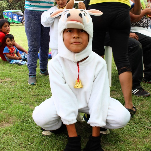 there was a pair of cute kids dressed as goats!
