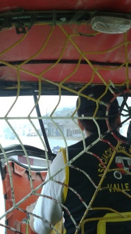 riding in the back of a moto-taxi